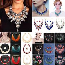 Fashion Women Bohemia Beads Bib Necklace Choker Statement Pendant Chunky Jewelry