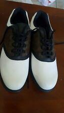 Footjoy GreenJoys 45516 White Brown Leather Saddle Golf Shoes Size 12 M