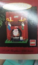 1995 Hallmark Keepsake Ornament Lego Fireplace With Santa NIB NEW IN BOX