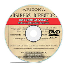 Arizona, AZ, People, Cities and Towns History and Genealogy 89 Books DVD CD H36
