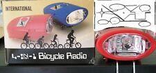 Linterna de bicicleta 4 en 1 incluye radio am, sirena y  claxon con soporte