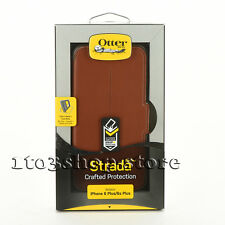 OtterBox STRADA Leather Wallet Folio iPhone 6 Plus iPhone 6s Plus Case Brown NEW