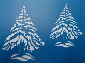 Scrapbooking - STENCILS TEMPLATES MASKS SHEET - Christmas Pine Tree Stencil
