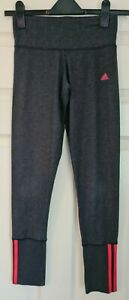 ADIDAS CLIMALITE Full Length Grey/Pink Leggings - Size XS - Immaculate