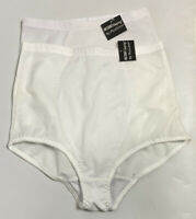 Lot of 2 VTG Plusform High Waisted Panty Tummy Control Instant Shaping White XL
