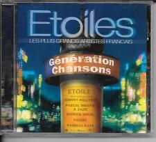 CD COMPIL 18 TITRES--ETOILES--HALLYDAY/BASHUNG/BRUEL/KAAS/LAVOINE/SHELLER...