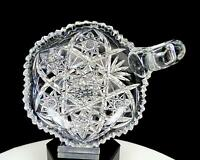 "TUTHILL SIGNED ABP BRILLIANT CUT CRYSTAL HOBSTAR FAN 5 7/8"" NAPPY 1910-"