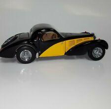 New ListingFranklin Mint Diecast 1936 Bugatti Type 57Sc Le Yellow/Bl 1446 of 3000 Produced