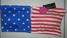 ICY HOT LINGERIE - NEW - 2X -  AMERICAN FLAG MOTIF-  PADDED BANDEAU BRA TOP