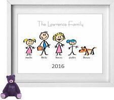 Nome della famiglia | personalizzato foto | Stick Persone Figure | GRATIS | (np154)
