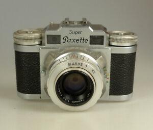 Braun Super Paxette Steinheil Cassarit 1:2.8 f=45 mm mit Ledertasche