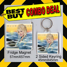 DOLLY-PARTON-BLUE-SMOKE.- COMBO DEAL FRIDGE MAGNET AND KEYRING - - CD COVER