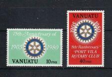 VANUATU 1980 75th Anniversary of Rotary International (English) Set MNH