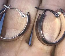 925 sterling silver hoop earrings stamped JCM