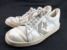 Vintage Converse All Star Shoes Pro Star Sz 10 White Low Top As Is Leather