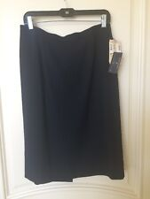 NWT Bill Burns Nordstrom Size 12 Womens Wool Pencil Skirt Navy Made in Italy