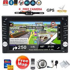 "Backup Camera Double 2 Din Car Stereo Radio Cd Dvd Player Bluetooth Gps 6.2"" Us"