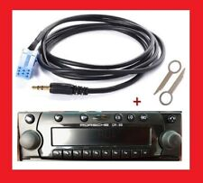 Cable aux jack adaptateur mp3 autoradio poste becker porsche Cr-22 + cles