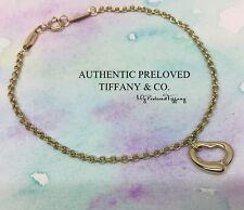 Excellent Authentic Tiffany & Co. Elsa Peretti Open Heart Bracelet Gold RP$725
