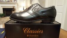 VINTAGE FOOTJOY CLASSICS MENS GOLF SHOES 51987 NEW BLACK 9.5D MADE IN USA MINT!