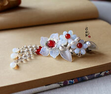 Chinese Classical Ladies Hair Clip Hair Accessories Czech Crystal Agate Flowers