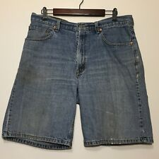 Vintage 90s Levis Denim Jean Shorts 550 Size 34 36 Relaxed Fit Light Wash 1990s