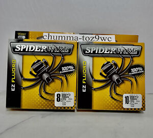 SPIDERWIRE (Lot Of 2EZ FLORO 100% Fluorocarbon 8+10lb/200yds, BassFishing,(NWT!)