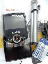 Kodak Zi6 Pocket HD Digital Camera Video Camcorder Secure Memory Card USB Black