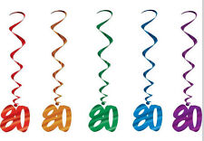 Look Who's 80!- 80th Birthday Hanging Whirls Decoration Set 57551-80