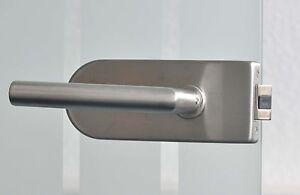 Glastürbeschlag Glastür Garnitur unverschließbar UV mit Bändern Edelstahl matt