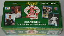 1991 Score 972 Card Baseball Set NEW - FACTORY SEALED Player & Trivia Cards
