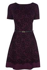 Oasis Lace Flocked Skater Dress 12