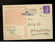 1942 Germany Buchenwald Concentration Camp Postcard Cover KZ Willy Gotz
