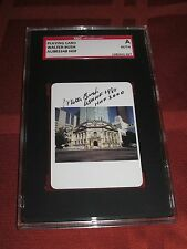 WALTER BUSH AUTOGRAPHED HALL Of FAME CARD-SGC SLABBED-ENCAPSULATED-2 INSCRIPTION