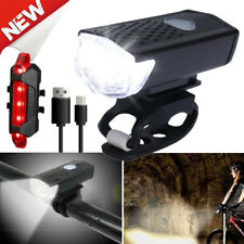 90000Lumen 8.4V Rechargeable Cycling Light Bike Bicycle LED Front Rear Lamp Set!