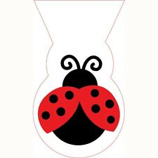 """""""LADYBUGS""""   Pack of 12 -  Ladybugs Fancy Cello Shaped Loot Bags!"""