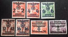 Germany General Government 7 X Stamps With Overprints Mint Hinged