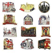 More details for 12 mix fridge metal magnets london skyline uk british souvenirs fridge magnet