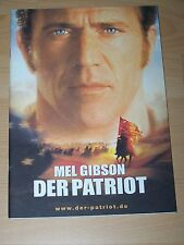 DER PATRIOT - Presseheft ´00 - MEL GIBSON Heath Ledger