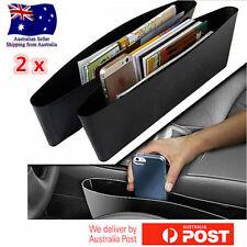 2PCS Black Catch Catcher Box Caddy Car Seat Gap Slit Pocket Storage Organizer AU