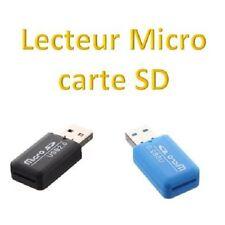 Lot de 2 - Adaptateur Lecteur Carte Mémoire Micro SD TF - USB 2.0