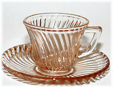 Federal Diana Pink Demi Cup and Saucer Hard to Find