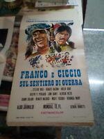 Franco E Ciccio Auf Waldweg Von Krieg Plakat Orig. 1969 Franken Ingrassia