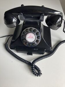 Retro Style Black Telephone Tested And Working