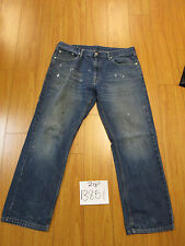 levi 559 relaxed straight paint grunge jean tag 36x30 meas 36x29.5 zip13851