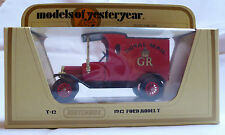 Matchbox Models of Yesteryear, Y12-3: 1912 Ford Model 'T'; Royal Mail GR, New