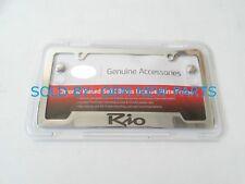 2001-2016 Kia Rio Chrome Plated License Plate Frame Genuine OEM NEW UR010AY105JB