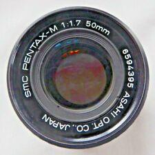 Prime Lens Asahi SMC Pentax-M f1.7 50mm PK fitting  Made in Japan