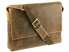 Large Messenger Shoulder Bag Real Leather Tan Model Visconti Texas 18516