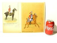 2 Original Watercolours of 12th Light Dragoons 18thC RG Harris Military Archive